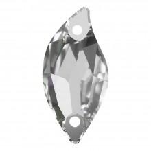 Leaf pietre da cucire piatto 2 fori 30x14mm Crystal F