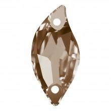 Leaf pietre da cucire piatto 2 fori 30x14mm Light Colorado Topaz F