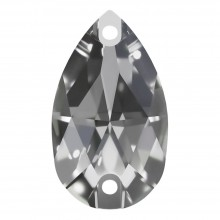 Pearshape pietre da cucire piatto 2 fori 12x7mm Crystal F