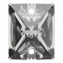 Baguette pietre da cucire piatto 2 fori 18x13mm Crystal F