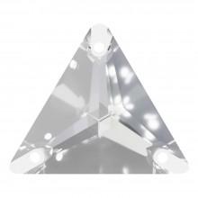 Triangle pietre da cucire piatto 1 fori 16mm Crystal F
