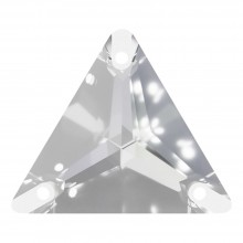 Triangle pietre da cucire piatto 1 fori 22mm Crystal F