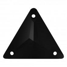 Triangle pietre da cucire piatto 1 fori 22mm Jet