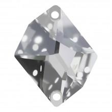 Cosmic pietre da cucire piatto 2 fori 17x13mm Crystal F