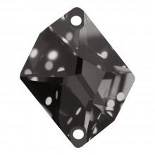 Cosmic pietre da cucire piatto 2 fori 27x21mm Black Diamond F