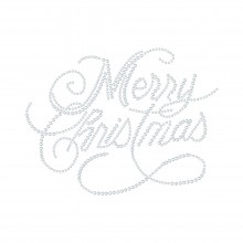 "Cartina Strass Termoadesivo ""Merry Christmas"" 177x135mm"