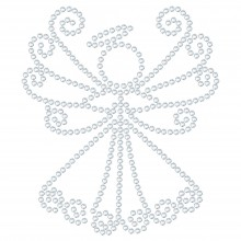 "Cartina Strass Termoadesivo ""Angel"" 86x74mm"