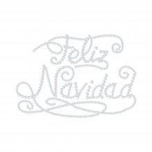 "Cartina Strass Termoadesivo ""Feliz Navidad"" 173x120mm"