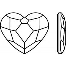 Heart pietra strass 6mm Crystal AB F (00030AB)