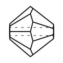 Bicono Perla di vetro sfaccettata 6mm Crystal AB
