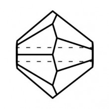 Bicono Perla di vetro sfaccettata 6mm Crystal