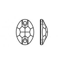 Oval 301 pietre da cucire 2 fori 24x17mm Crystal AB F