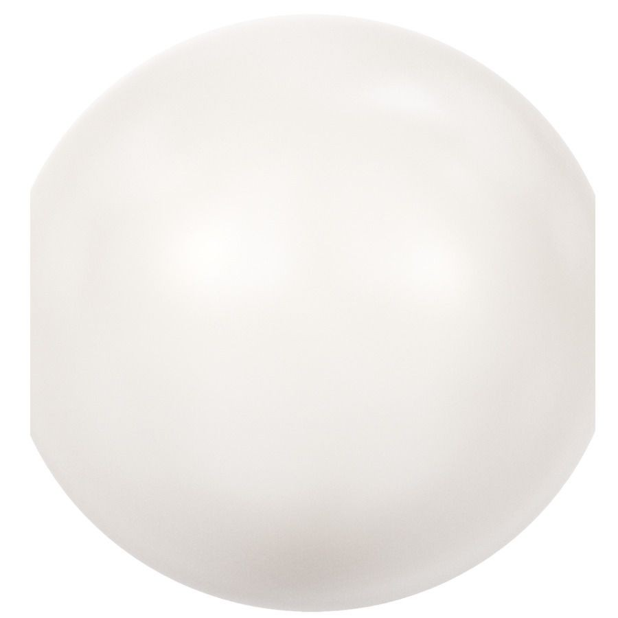 Crystal Round Pearl 6mm Crystal White Pearl