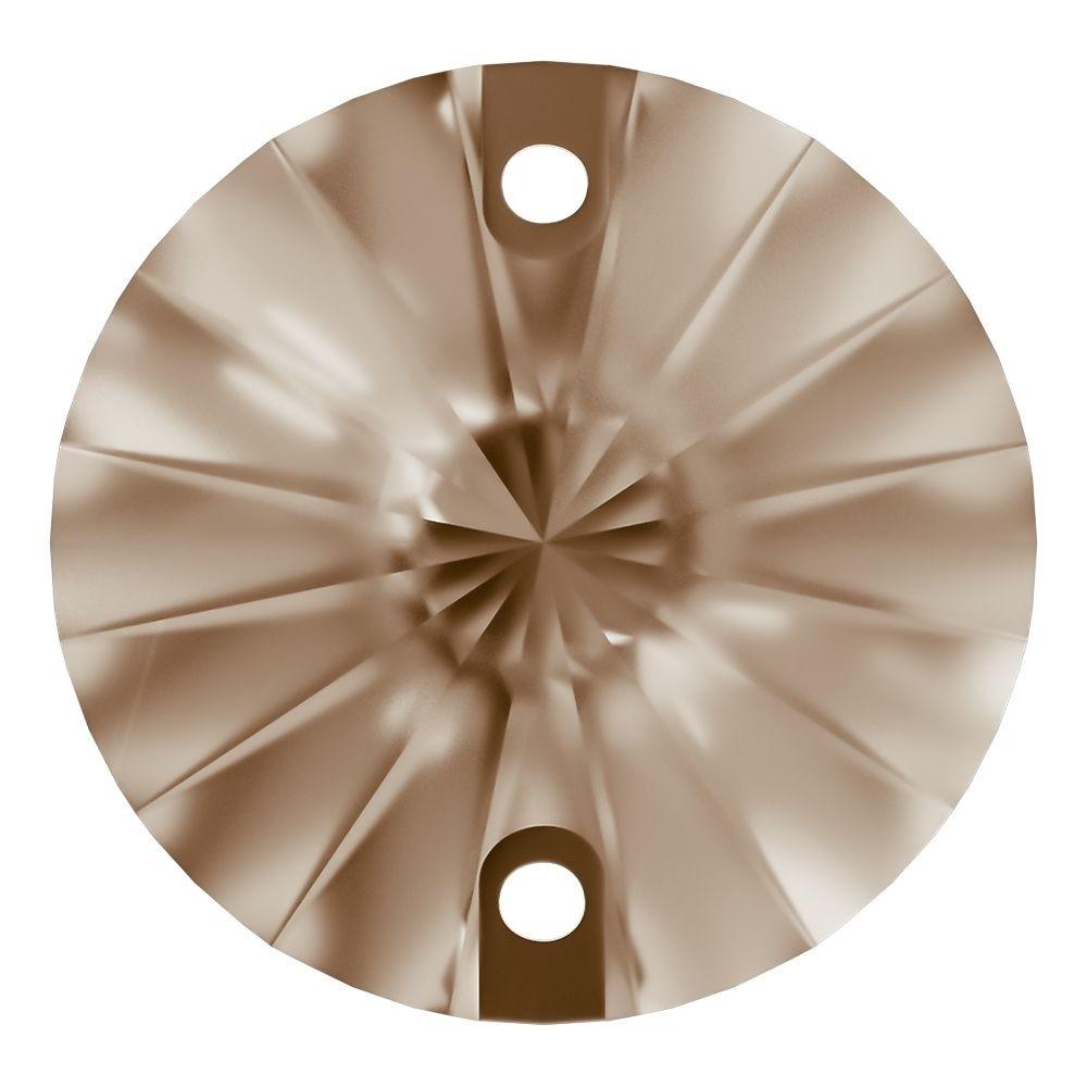 Rivoli pietre da cucire piatto 2 fori 12mm Light Colorado Topaz F