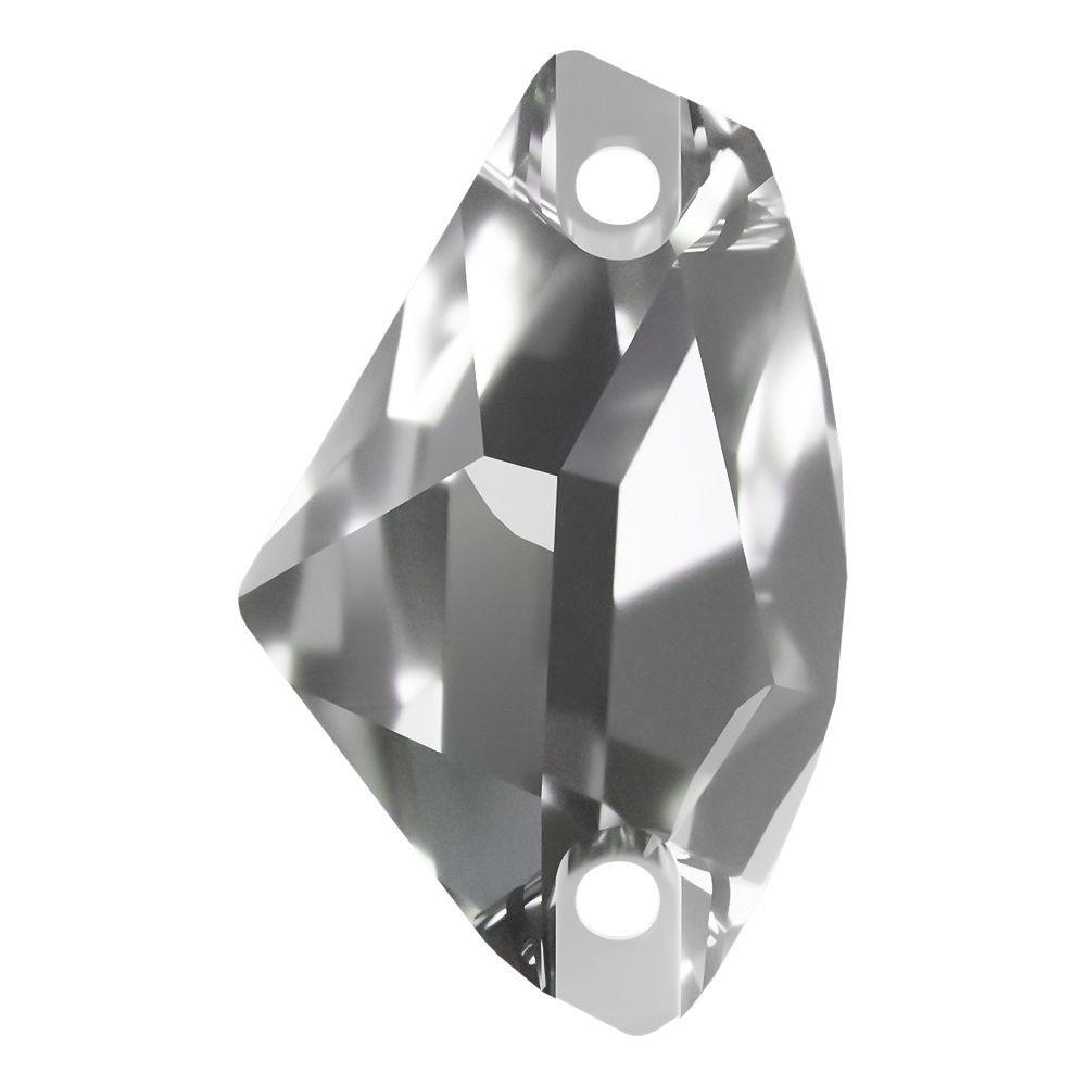 Galactic pietre da cucire piatto 2 fori 19x12mm Crystal F