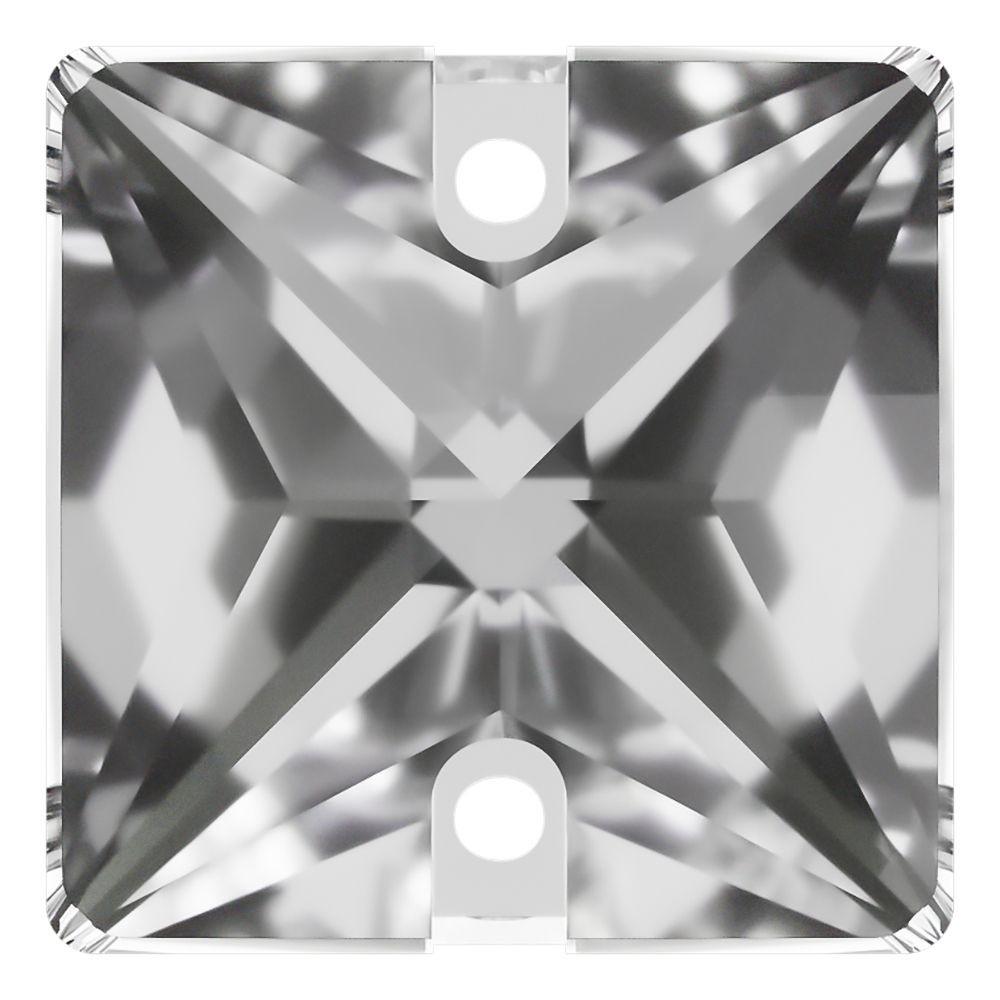 Square pietre da cucire piatto 2 fori 14mm Crystal F