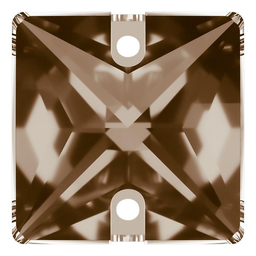 Square pietre da cucire piatto 2 fori 22mm Light Colorado Topaz F