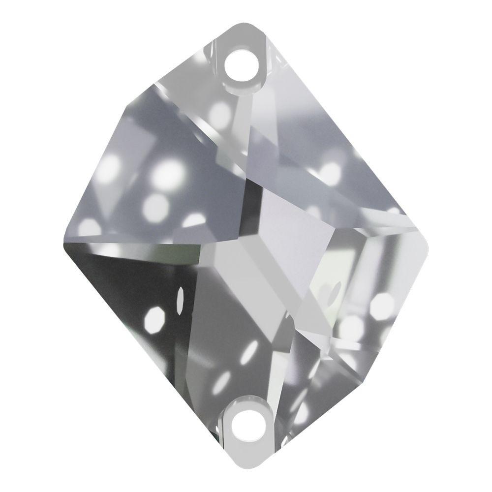 Cosmic pietre da cucire piatto 2 fori 27x21mm Crystal F