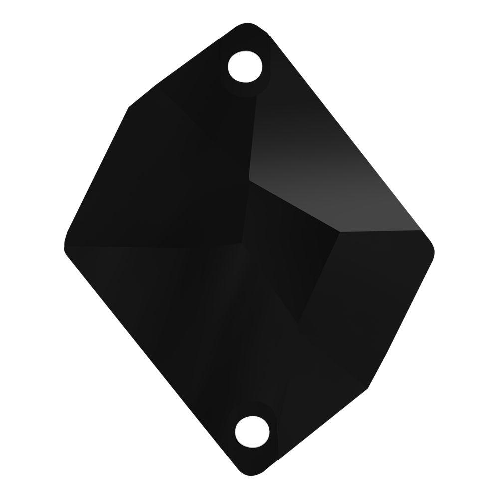 Cosmic pietre da cucire piatto 2 fori 27x21mm Jet