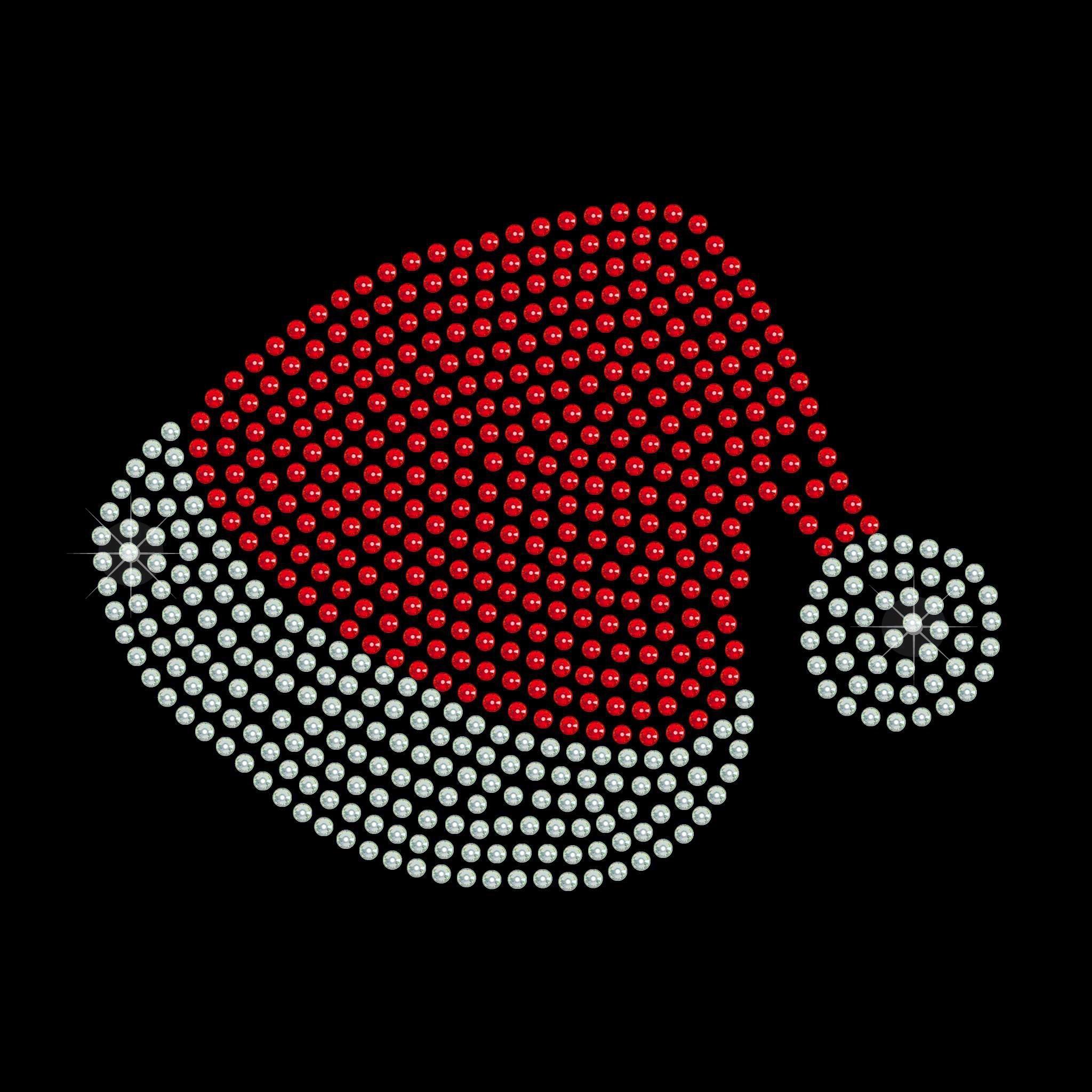 "Cartina Strass Termoadesivo ""Christmas Had"" 131x99mm"