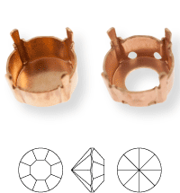 Chaton Castone ss44/ss45, Sew-on 4 holes/2 each side, open, Gun Metal