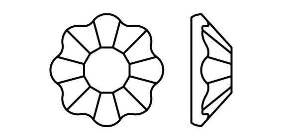 Flower hotfix strass termoadesivo ss16 Crystal HF