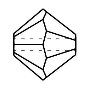 Bicono Perla di vetro sfaccettata 4mm Crystal Labrador 2x