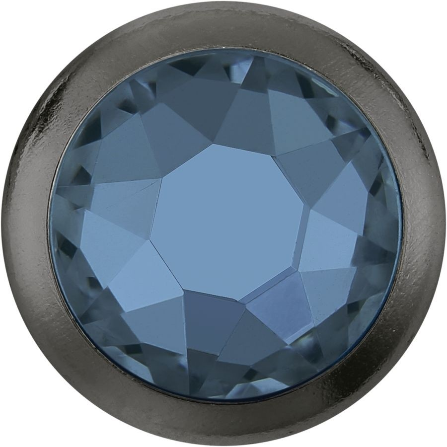 Xirius Rose Framed hotfix strass termoadesivo ss34 Denim Blue HF Gold Ring (GR)