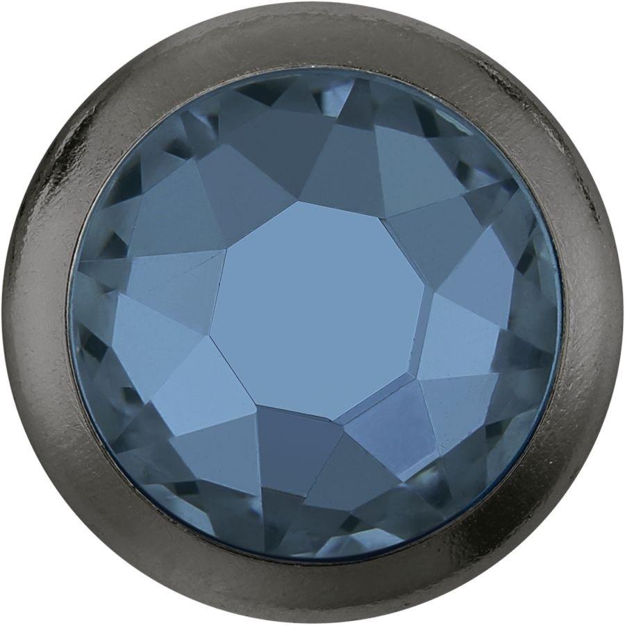 Xirius Rose Framed hotfix strass termoadesivo ss34 Denim Blue HF Silver Ring (SR)