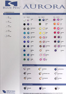 BLUE NIL PREMIUM Rose Hotfix Color Chart