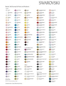 Swarovski Color Chart Beads and Pendants