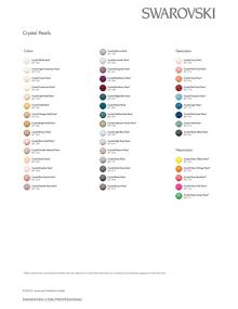 Swarovski Color Chart Crystal Pearls