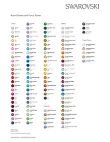 Swarovski color chart round stones